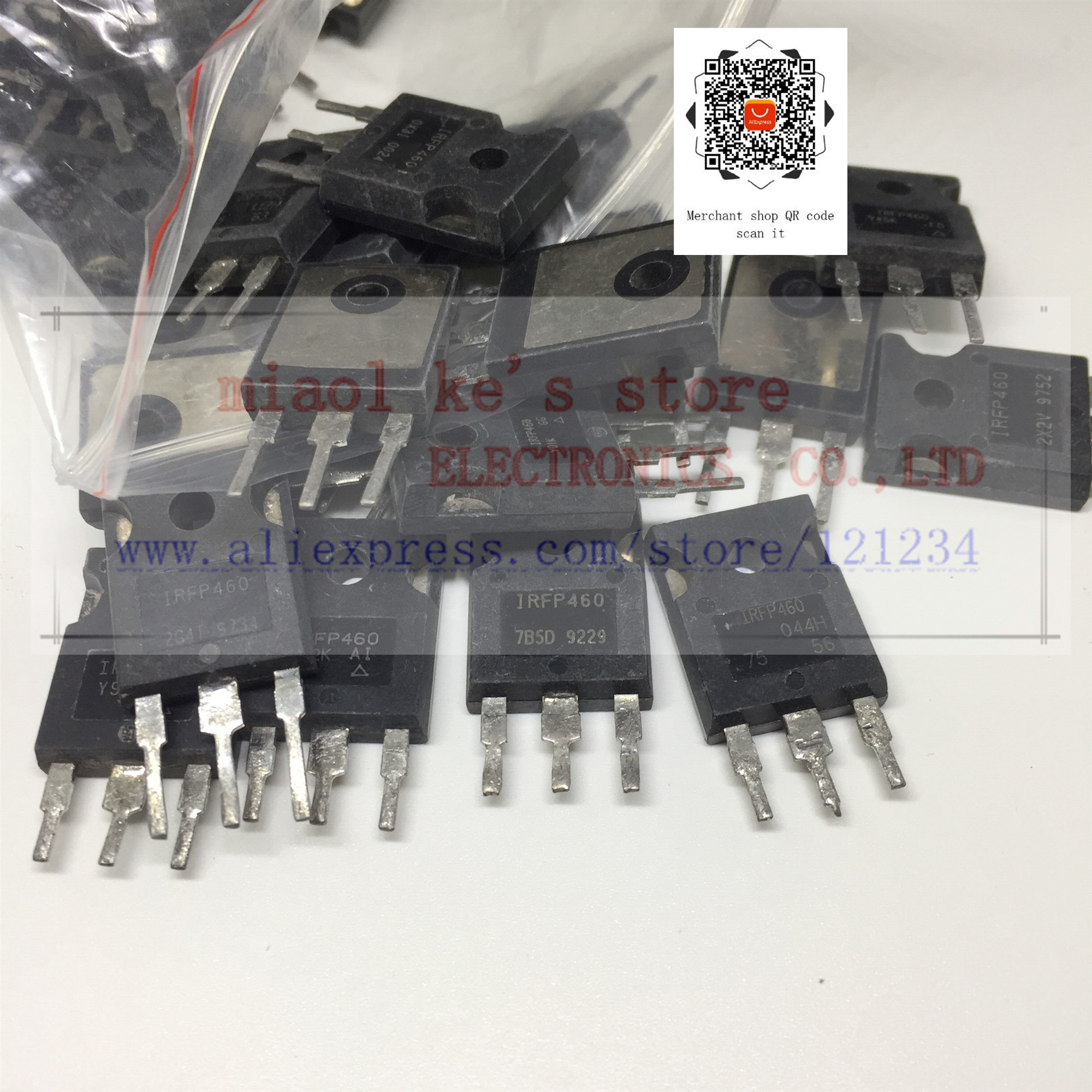 [ 50pcs/1lot ] IRFP460 IRFP460N IRFP460NPBF [ Used Goods ]- Through Hole MOSFET N-CH Pval(2068) 500V 20A 280W TO-247-3(TO-247AC)