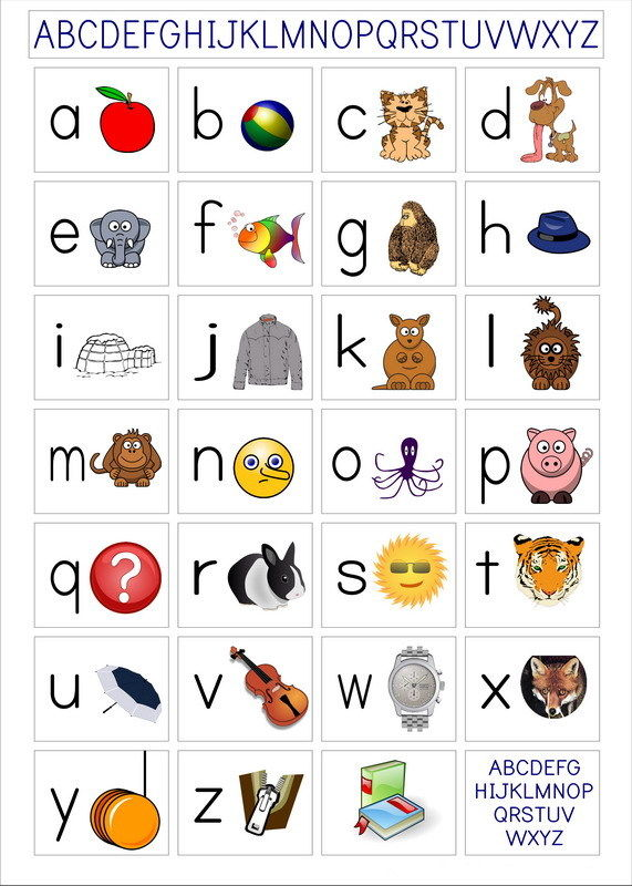 010 early learning abc alphabet laminated educational 14 x20 poster
