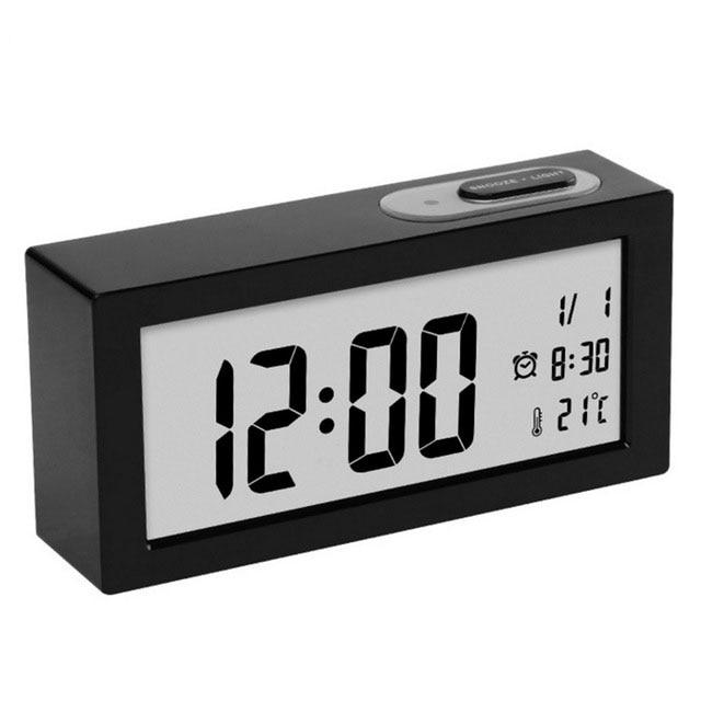 Modern Design LED Digital Alarm Clock Desktop Multi function Temperature Snooze Function Electronic Calendar Office Table Clock