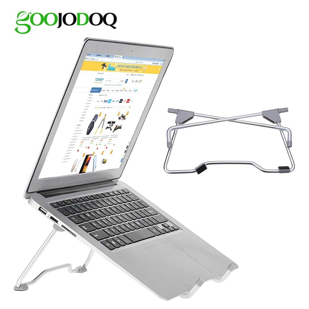 Support ordinateur portable de Stand pour Macbook Air Pro 13 15 Lenovo ASUS Tablet PC Support De Bureau En Métal En Acier Multi-angle non-slip Portable
