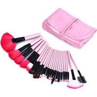 24 Stücke Bilden Pinsel Set Schwarz Rosa Make-Up Tasche Gesicht Blending Pinsel Schönheit Werkzeuge Kosmetik Foundation Lip Pulver Lidschatten pinsel