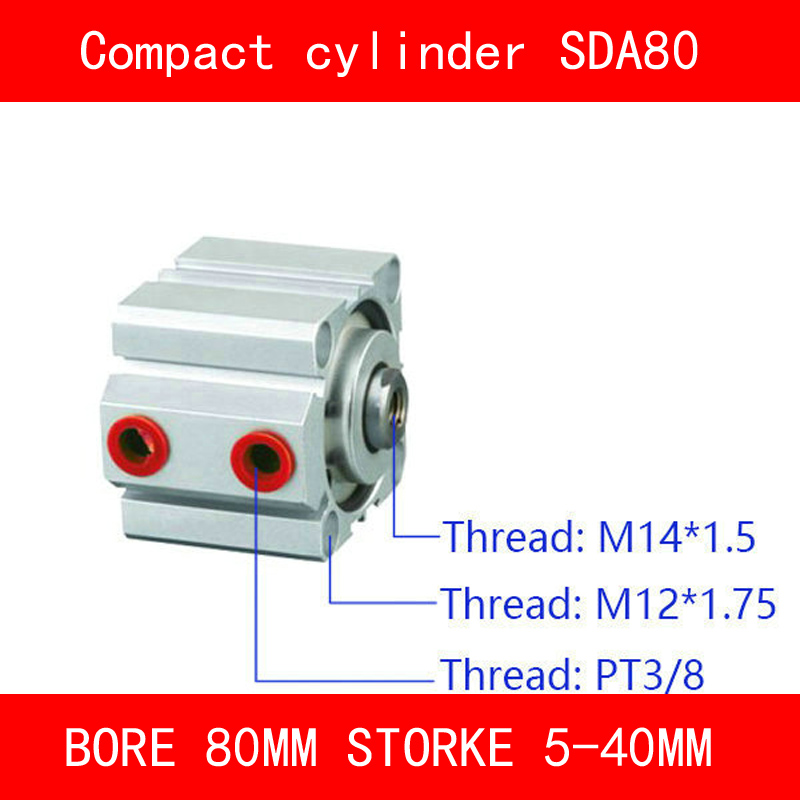 CE ISO SDA20 Cylinder Magnet SDA Series Bore 20mm Stroke 5-50mm Compact Air Cylinders Dual Action Air Pneumatic Cylinder sda type bore 20mm stroke 5 10 15 20 25 30 35 40 45 50mm sda20 double acting compact air pneumatic piston cylinder female