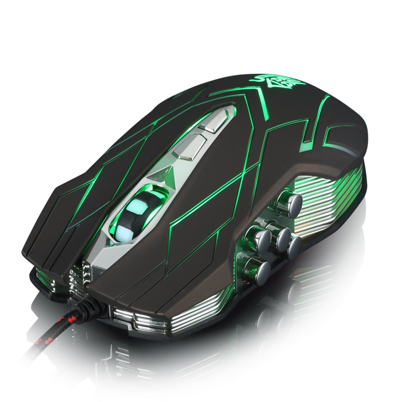 Hongsund NEW Suzaku II Gaming mouse+800/1200/1600/2400 DPI +USB 3D Professional Competitive Gaming 9 Buttons Mice 40