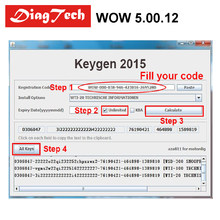 Latest Original WoW 5.00.12/ WoW 5.00.8 Free Keygen WOW Snooper Diagnostic Tool Support Multi-langauges For TCS CDP PRO WOW(China)