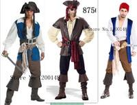 Uomo Jack Pirata Costumi Cosplay Pirati Dei Caraibi Halloween Disfraces Gioco Maschio Abbigliamento Moda Plus Size XL Pirata