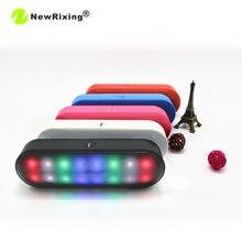 NewRixing BT808NL Mini Bluetooth Speaker LED Portable Wireless Speakers Music Loudspeaker Support bluetooth TF AUX USB FM Play