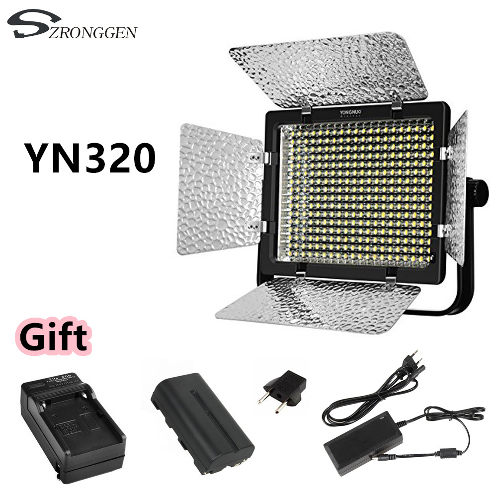 YONGNUO YN320 Photo Studio LED Panel Video Light with Stand Holder High Brightness Video Light for Canon Nikon DSLR Camera-in Photographic Lighting from Consumer Electronics    1