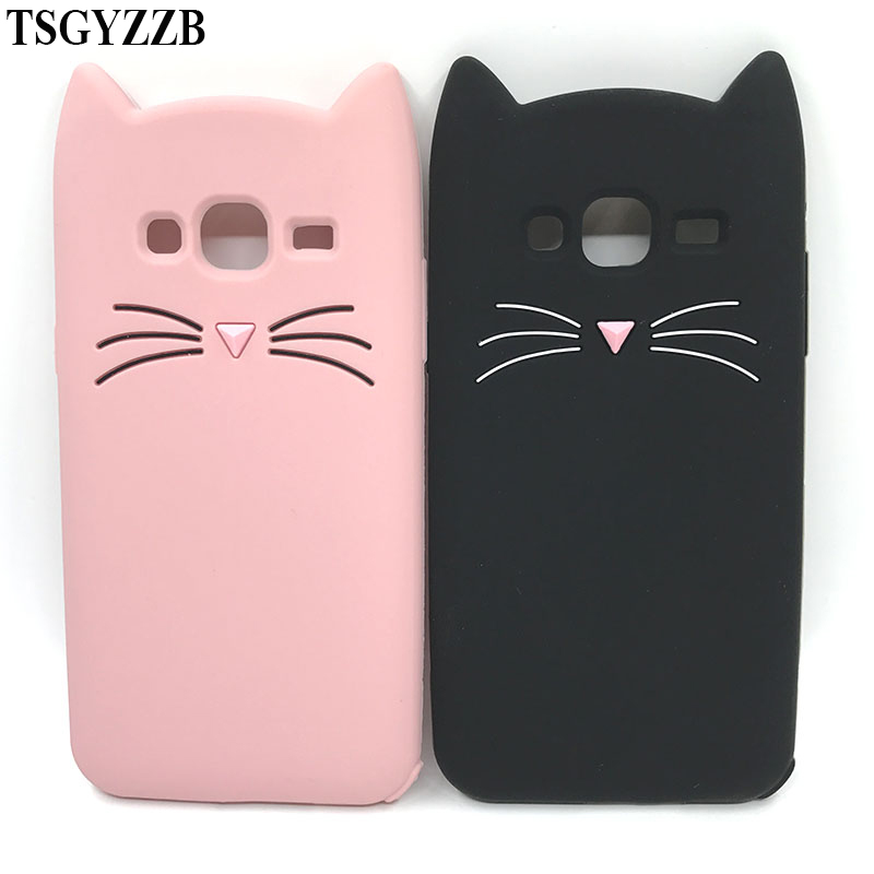 Cute Cat 3D Silicone Phone Case For Samsung Galaxy J1 J3 2016 J5 Pro J7 2017 Cases Coque Fundas For Iphone 8 7 6 6S Plus 5 5S SE