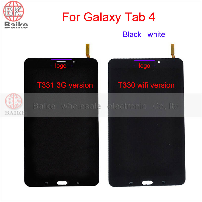 New Tested For Samsung Galaxy Tab 4 8.0 T330 T331 Lcd Screen Display with Touch Screen Digitizer Full Assembly Black white
