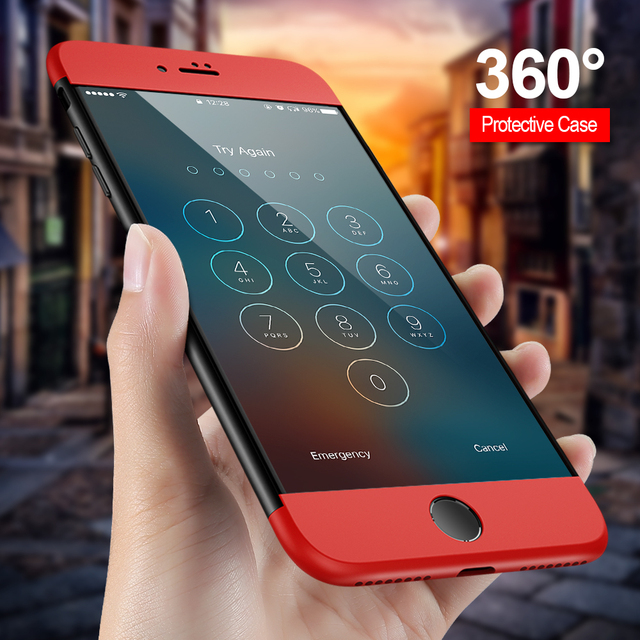 sale retailer a3a49 d65fe US $3.99 20% OFF|KISSCASE Combo Case For iPhone 6S 7 Plus Cover 360 Degree  Protective case For iPhone 7 7 Plus Cases For iPhone 6 6s Plus 5s SE-in ...