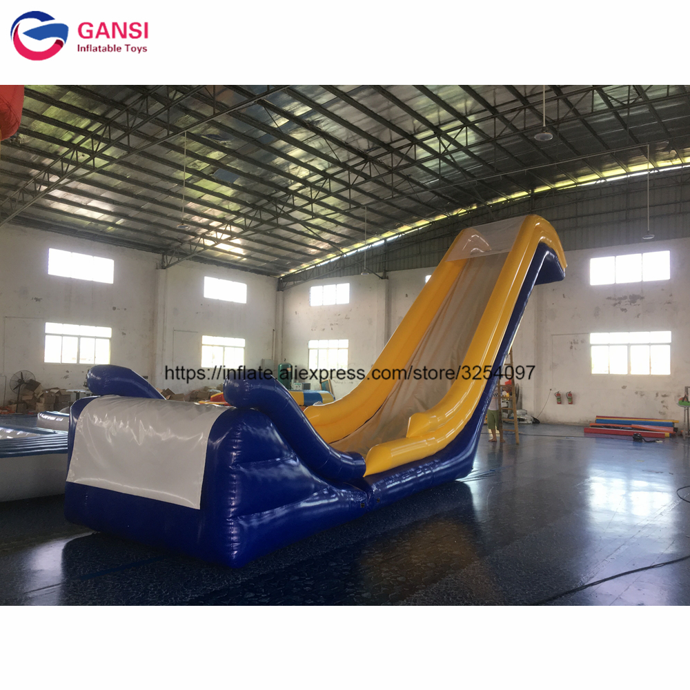 Water boat toys inflatable slide for party, 4.4m height giant inflatable yacht slide with down-up slideWater boat toys inflatable slide for party, 4.4m height giant inflatable yacht slide with down-up slide