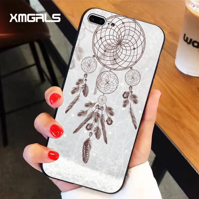 xmgrls dreamcatcher for iphone 7 plus case the pattern non slip pc frosted scale mobile