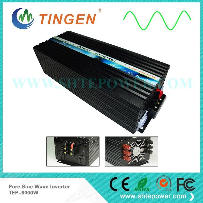 цена на 6KW 6000W power inverter AC 110V/120V/220V/230V output pure sine wave TEP-6000W converter DC input 12V/24V/48V