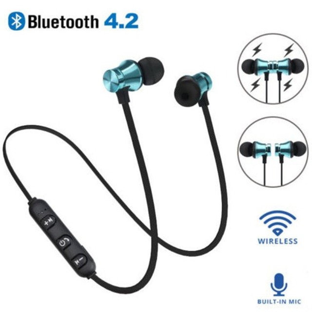 XT-11 מגנטי Bluetooth אוזניות V4.2 סטריאו ספורט אוזניות עמיד למים אלחוטי באוזן אוזניות עם מיקרופון עבור iPhone סמסונג