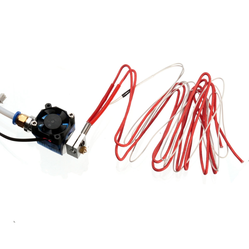 3D Printer V6 Remote Print Head Extruder With Cable Tube And Cooling Fan Bracket For J