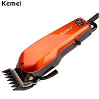 Power Adjustable Kemei Classic Design Plug Use Electric Hair Trimmer Hair Clipper Haircut Machine Tondeuse Cheveux