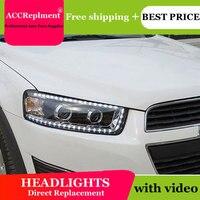 Car Styling for Chevrolet Captiva LED Headlights New Captiva led DRL Lens Double Beam H7 HID Xenon bi xenon lens