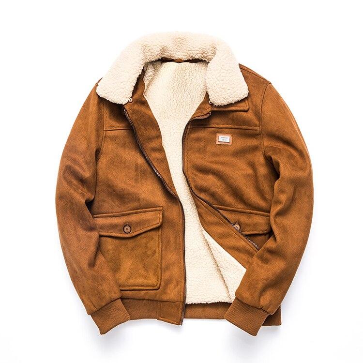 Hiver Bomber AIR hommes veste polaire épais chaud livraison directe discount manteaux mâle Stand fourrure col armée tactique top Parkas