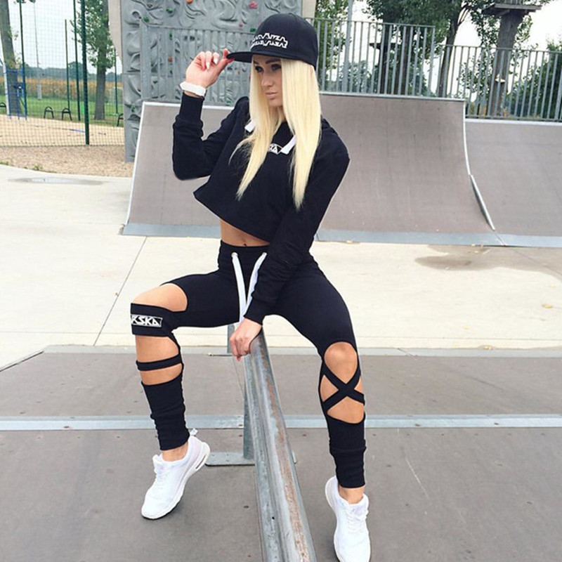 2017 Two Piece Set Tracksuit Camouflage Sexy Sleeveless Sweatsuits For Women Sets Cropped Survetement femme military 2