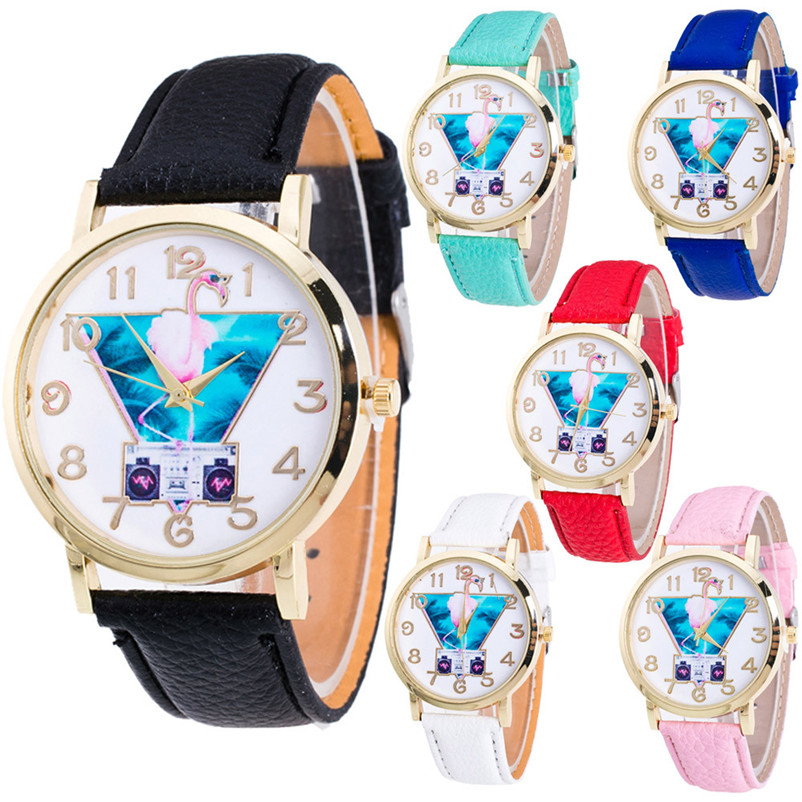 brand new Female Fashion Temperament Leather Belt With Simulated Quartz Round Watch wholesale #2AP10