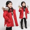 V-TREE Nova moda crianças meninos e meninas roupas engrossar crianças outerwear meninas de algodão casaco de inverno roupas de bebê casual-jacket