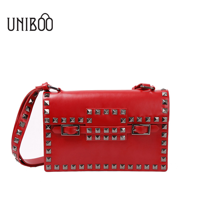 ФОТО Fashion female rivet casual day clutch bag women korean style red envelope clutch party bag small lady messenger shoulder bag