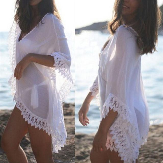 See-through Beach Dress for Women Bikini Cover-ups