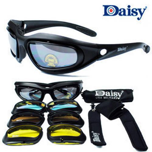 Prix pour Daisy C5 lunettes de Soleil 4 lentilles Lunettes Tactique Lunettes De Protection Des Yeux UV400 tir tactique lunettes