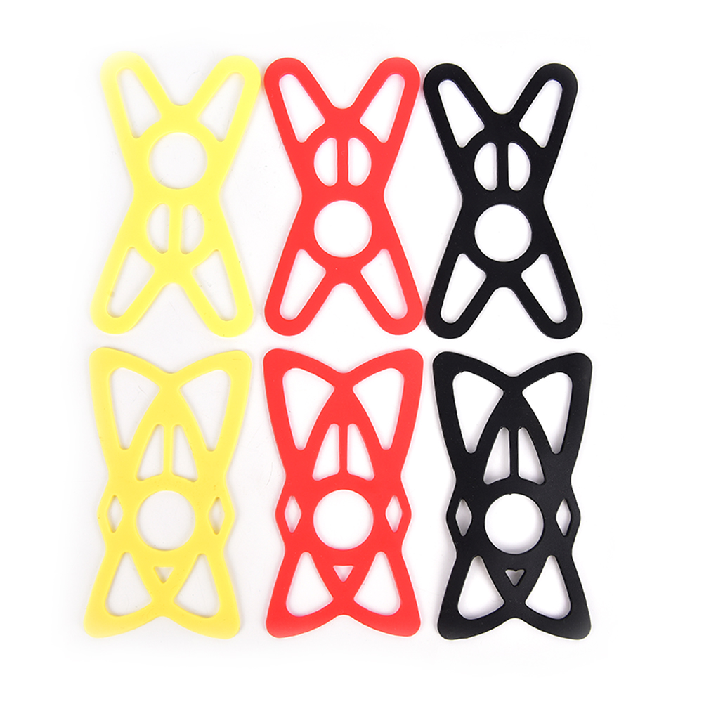 Silicone Elastic Strap Bike Front Phone Holder Phone Fixing Hiking Light Bandage Bicycle Handlebar