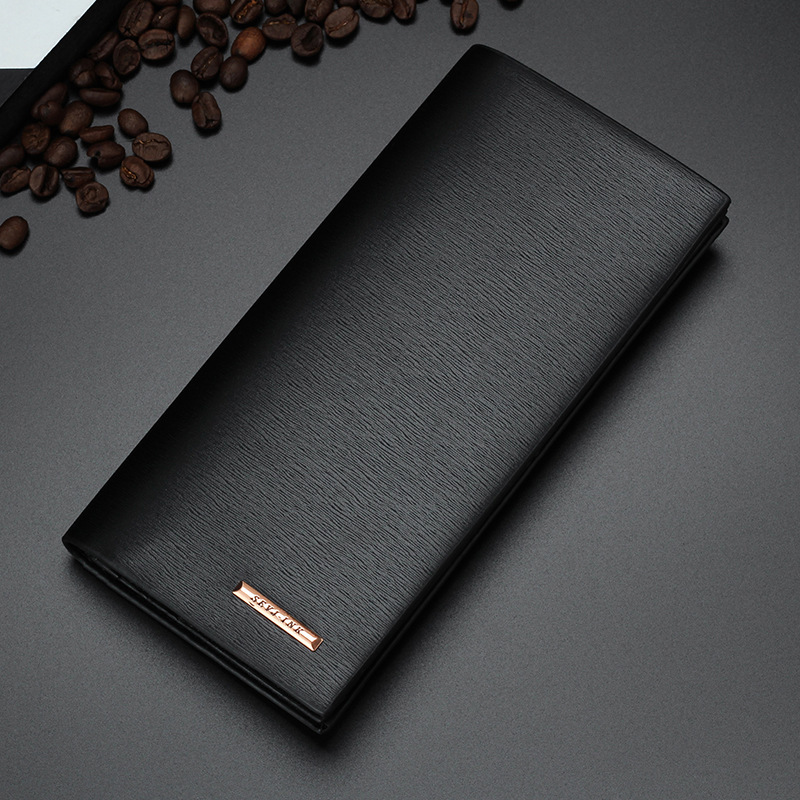 New Classic Model Men Long Wallets Black Brown Solid Colors Soft PU Leather Credit Card Holder Purse Wallet Free Shipping 2028-3