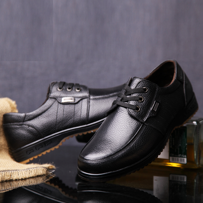 Black Brown Men's Leather Shoes 2018 New England Leather Shoes - Men's Shoes - Photo 5