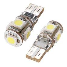 TOYL 2x FIALA 5 LED SMD W5W T10 BIANCO XENON luce di Notte della lampada della luce dell'automobile ANTI ERRORE di TRASPORTO ODB Canbus