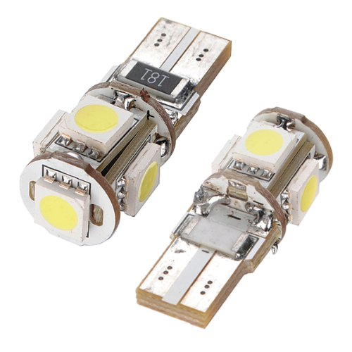 TOYL 2х ампула 5 СМД W5W и Лампа T10 белый ксеноновых ночь свет лампы свет автомобиля анти безошибочной canbus автомобиля ОДБ