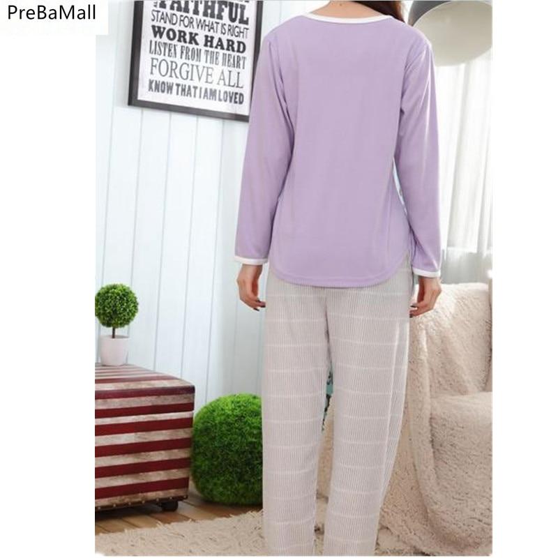 Free Shipping Pajamas Suits For Women Spring Autumn Generation Women Long Sleepwear Suit Cotton Ladies Pyjamas Set D15 in Pajama Sets from Underwear Sleepwears