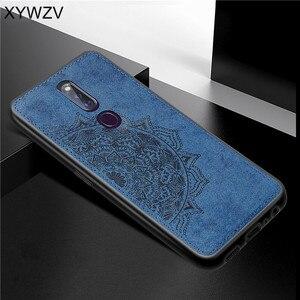Image 2 - Pour OPPO A9X coque antichoc souple Silicone luxe tissu Texture coque de téléphone pour OPPO A9X couverture de téléphone pour OPPO A9 X Fundas