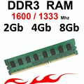8 ГБ ОПЕРАТИВНОЙ ПАМЯТИ ddr3 памяти 1600/1333 МГц-1333 DDR3 4 ГБ ОПЕРАТИВНОЙ ПАМЯТИ-для AMD и Intel DDR 3 memoria RAM 1600 МГц 2 Г