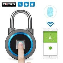 Fingerprint Smart Keyless USB Rechargeable Gift Padlock Waterproof APP Button Password Anti-Theft Luggage Door Lock Android IOS