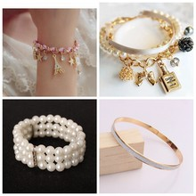 Summer bracelets & bangles Dainty Double-Layer Satellite Chain Gold Bracelet Wedding Gift(China)