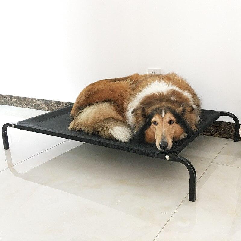 Новый тептер повышенные складной портативный собака кровать прочный путешествия кровать наружная металлическая рама три размера на выбор