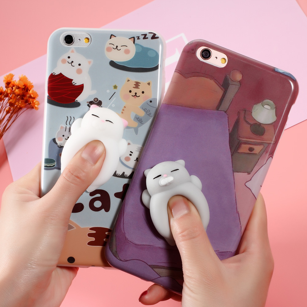 Iphone 6 squishy case - Squishy Animal Phone Case For Iphone 6 6plus Squishi Case Funny Cute Squishy Cases Soft Housing