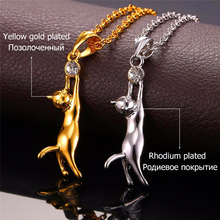 Cute Cat Necklace & Pendant For Women