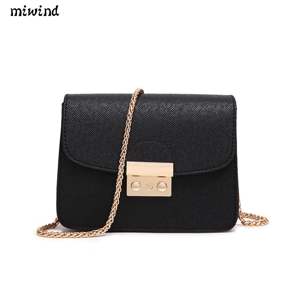 MIWIND Women Messenger Bags Candy Color Cross Body Bags Women Female Shoulder Bag Female Tote Leather Handbags Women Bag free shipping fashion pu women messenger bags candy color pure yellow color cross body bag shoulder bags