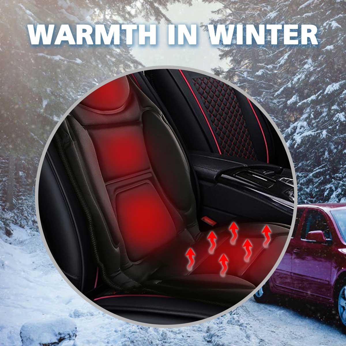 12 В Электрический Подогрев Чехол подушки сиденья автомобиля подогреватель сиденья теплая зимняя Бытовая нагревательная подушка сиденья