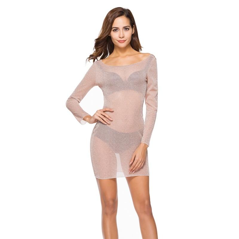 New Sexy Women Summer Dress See Through Slim Bandage Bodycon Party 2018 Mini Dress Vestidos Femme Plus Size 2XL