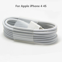 For Apple iPhone 4 4S Charging Cable 1/2Meter USB Sync Data Charging Charger Cable Cord White Black Color Mobile Phone Accessory
