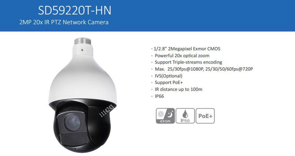 DAHUA Security IP Camera CCTV 20x Network IR PTZ Dome Camera 1080P Full HD IP High