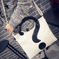 new casua lquestion mark handbags  women evening crossbody bag ladies party  patchwork  black and white shoulder  bags