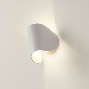 Creative rotating dimming wrought iron stairs aisle lights living room bedroom bedside led wall lamp LM4181413