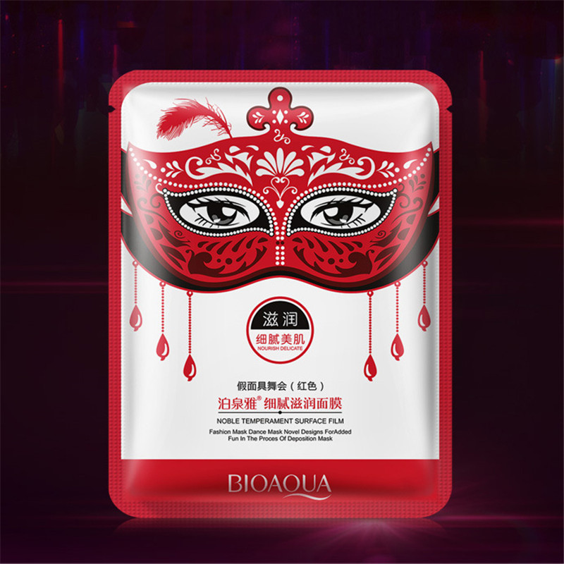 BIOAQUA Skin Care Facial Mask Moisturizing Face Mask  Oil Control Brighten Shrinking Pore Masquerade Mask Face Care