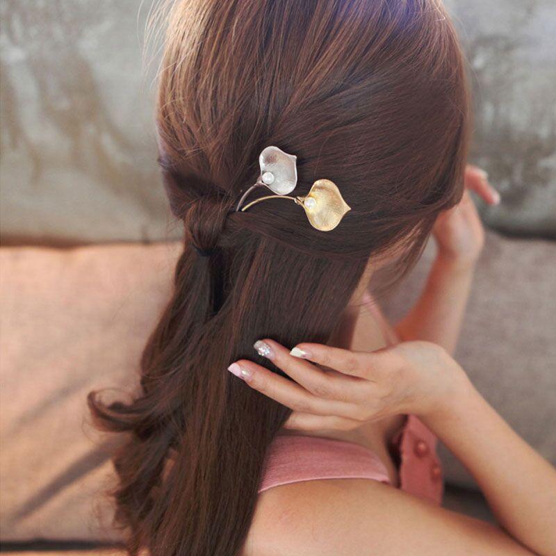 M MISM 2017 Elegant Imitation Pearl Bridal Fine Hairpin Morning Glory Shape Metal Hair Accessories Fashion Hair Clip New цены онлайн